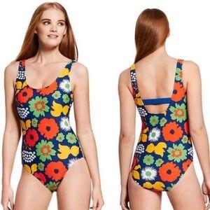 Marimekko for target one piece swim suit M floral